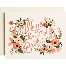 Rifle Paper Co. Will You Be My Bridesmaid Floral Stationery
