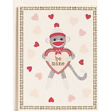 Sock Monkey Be Mine Valentine Card