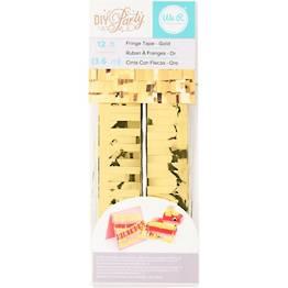 Gold Fringe Rubber Tape