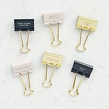 Sayings Binder Clips