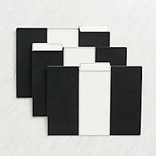 Black and White Leatherette File Folders
