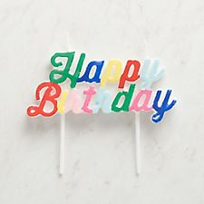 Multicolored Happy Birthday Candle