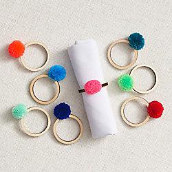 Pom Pom Napkin Rings