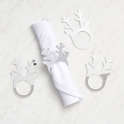 Mirrored Reindeer Napkin Rings