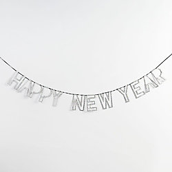 Happy New Year Silver Garland 636997224022