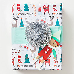 Holiday Character Icon Wrapping Paper