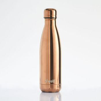 S Well Rose Gold Metallic Water Bottle Paper Source