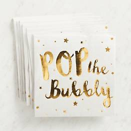 Pop the Bubbly Napkins