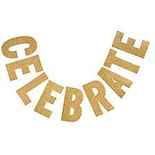 Gold Glitter Alphabet Letters