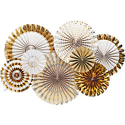 Gold Party Rosettes