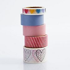 XOXO Heart Assorted Washi Tape