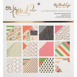 """Summer Fun with Gold Foil 6"""" x 6"""" Designer Paper Pad"""