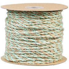Mint & Natural Jute Ribbon