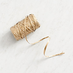 Metallic and Natural Raffia Ribbon