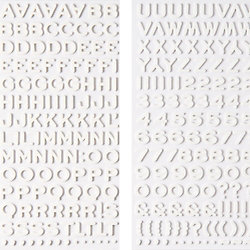 Dear Lizzy White Thickers Alphabet Stickers