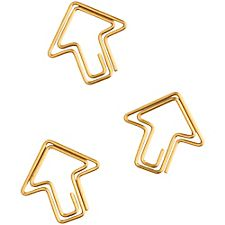 Gold Arrow Paper Clips