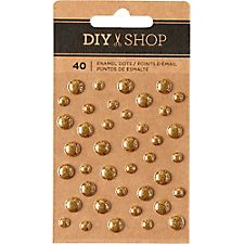 DIY Shop Gold Enamel Dots