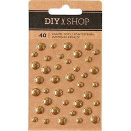 DIY Shop Gold Enamel Dots