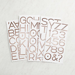 Rose Gold Foil Thickers