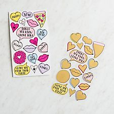 Scratch-Off Heart Stickers