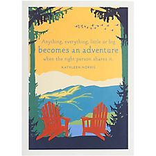 Adirondack Chairs Anniversary Card
