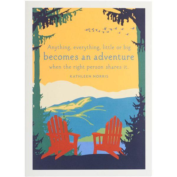 Adirondack Chairs Anniversary Card