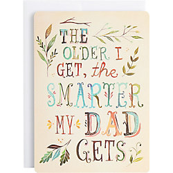 Smarter Dad Gets Father's Day Card