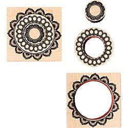 Nested Doily Frame Rubber Stamp Set
