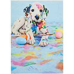 Dog in Paint Easter Card