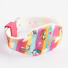 Rainbow Stripe Unicorn Wrist Watch