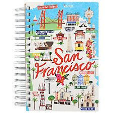 San Francisco Script Spiral Journal