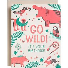 Go Wild Animals Birthday Card