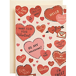 Cavallini Be My Valentine Hearts Card