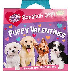 Scratch Off Puppy Valentine Pack