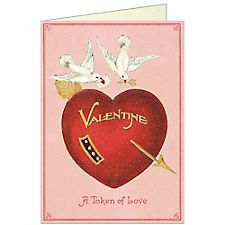 Cavallini Love Brids Valentine Card