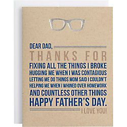 Dear Dad, Thanks for Everything Father's Day Card