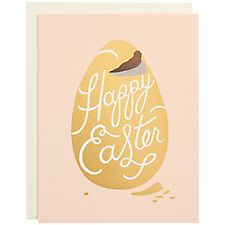 Gold Foil Chocolate Egg A2 Easter Card