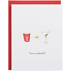 Solo Cup to Martini Glass A2 Graduation Card