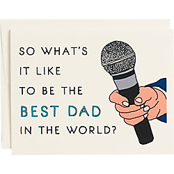 What's it Like To Be The Best Father's Day Card