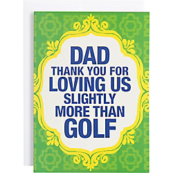 Loving Us More Than Golf Father's Day Card