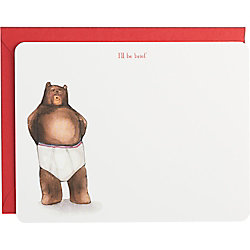 I'll Be Brief Bear Note Cards