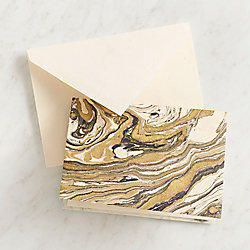 Gold and Black Marble A2 Note Cards