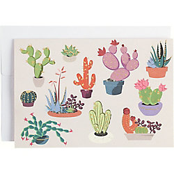 Gold Foil Pop Up Cacti 4 Bar Note Cards