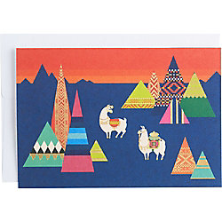 Foil Pop Up Llamas 4 Bar Note Cards