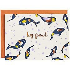 Copper Foil Hey Friend Koi Stationery