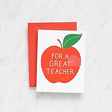 Apple For a Great Teacher Scratch-N-Sniff Card