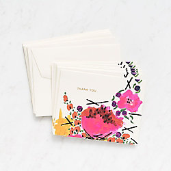 Floral Magnolia Thank You Cards
