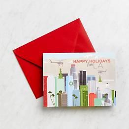 Happy Holidays From LA Stationery Set