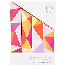 Foil Pink & Orange Page Flags