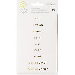Studio Calico Gold Phrases Stickers